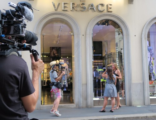 A day with Anais Favron and Evasion Channel at Milan Fashion District